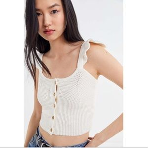 Urban Outfitters Tops - UO Daisy Textured Button-Front Tank Top